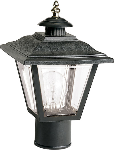 "Nuvo Lighting SF77/898 1 Light 13"" Post Lantern Coach Lantern with Brass Trimmed Acrylic Panels"