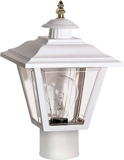 "Nuvo Lighting SF77/899 1 Light 13"" Post Lantern Coach Lantern with Brass Trimmed Acrylic Panels"