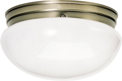 "Nuvo Lighting SF77/988 2 Light 12"" Flush Mount Large White Mushroom"