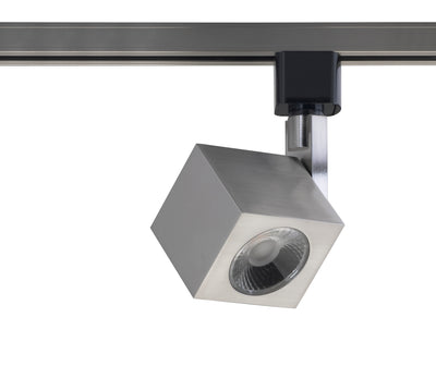 Nuvo Lighting TH465 1 Light LED 12W Track Head Square Brushed Nickel 24 Deg. Beam