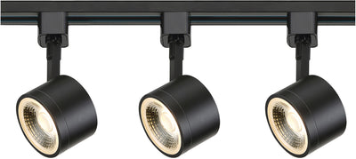 Nuvo Lighting TK404 Track Lighting Kit 12 watt LED 3000K 36 degree Round shape Black finish