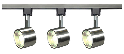 Nuvo Lighting TK407 Track Lighting Kit 12 watt LED 3000K 36 degree Round shape Brushed nickel finish