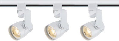 Nuvo Lighting TK423 Track Lighting Kit 12 watt LED 3000K 36 degree Round shape with angle arm White finish
