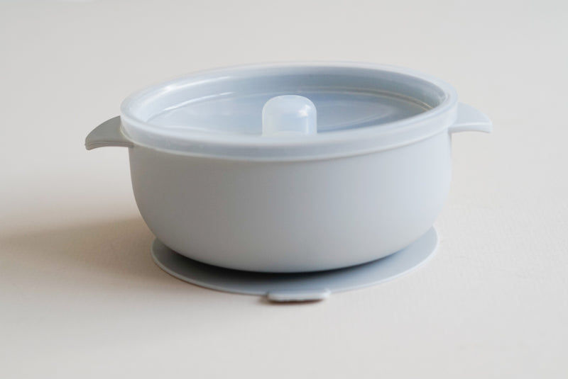 Silicone suction bowl /Light grey