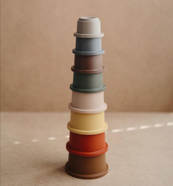 Retro stacking cups
