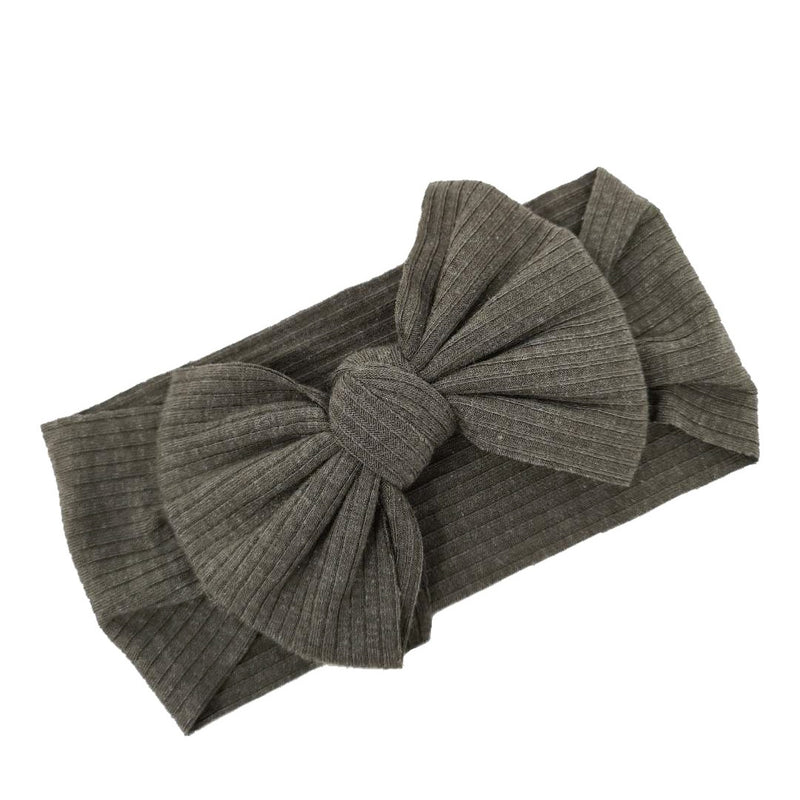 KHAKI RIBBED HEADWRAP - Snuggle Baby