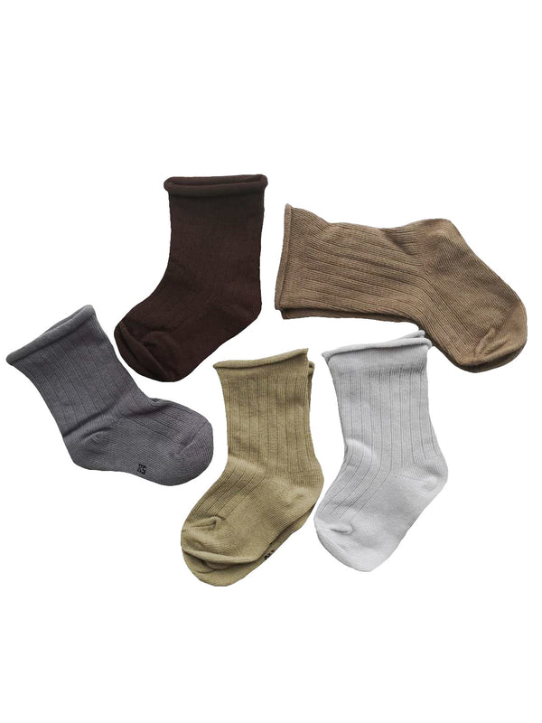 Set of 5 pairs ribbed socks