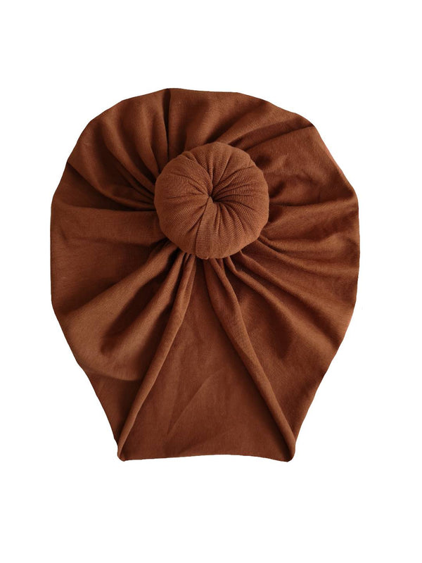 Coffee cotton turban hat