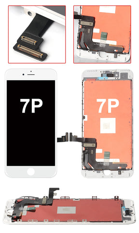 IPHONE 7 PLUS WHITE OEM QUALITY SCREEN REPLACEMENT WITH TOUCH SCREEN AND LCD DISPLAY