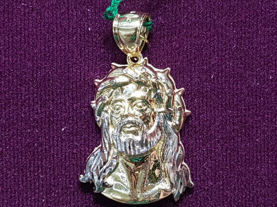 Mesh Back Jesus Head White Gold Beard 14K - Lucky Diamond 恆福珠寶金行 New York City 169 Canal Street 10013 Jewelry store Playboi Charlie Chinatown @luckydiamondny 2124311180