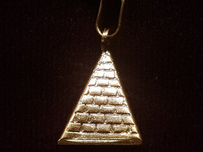Egyptian Pyramid Pendant 14K - Lucky Diamond 恆福珠寶金行 New York City 169 Canal Street 10013 Jewelry store Playboi Charlie Chinatown @luckydiamondny 2124311180