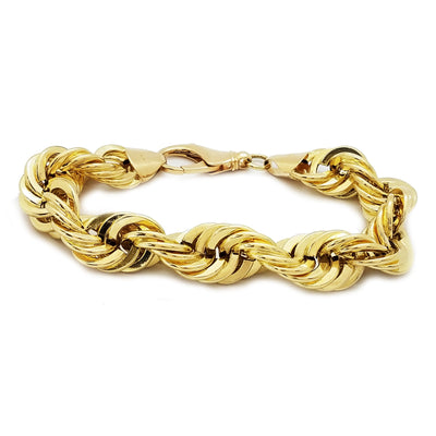 Hollowed Rope Yellow Gold Bracelet (14K)