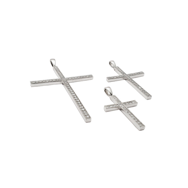 Diamond Cross Pendant (14K)