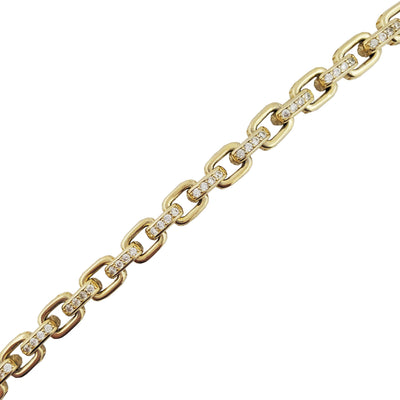 Iced-Out Cable Link Bracelet (Silver)