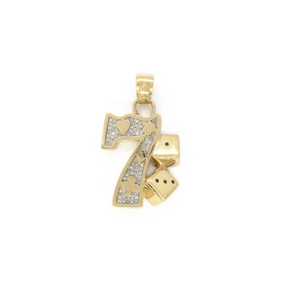 Gambling Seven 7 Diamond Pendant (10K) front - Lucky Diamond - New York