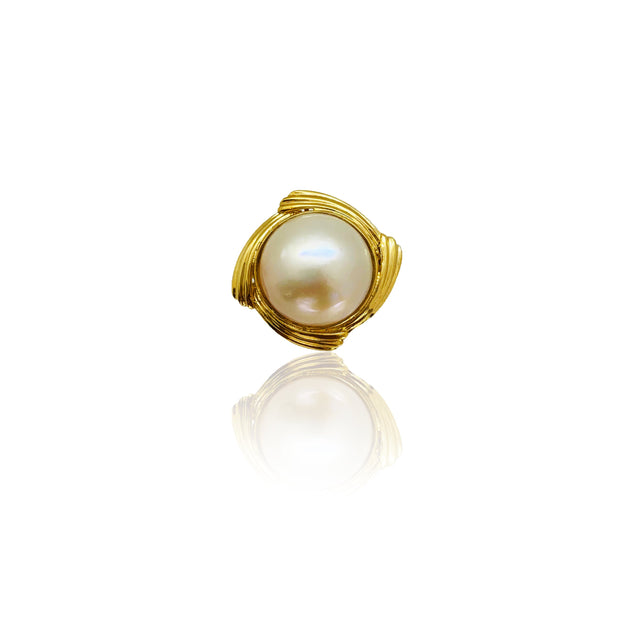 Pearly Swirl Ring (14K)