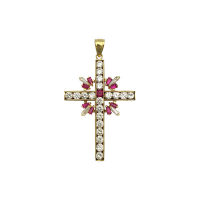 Embellished Celtic Cross Pendant (14K) front - Lucky Diamond - New York