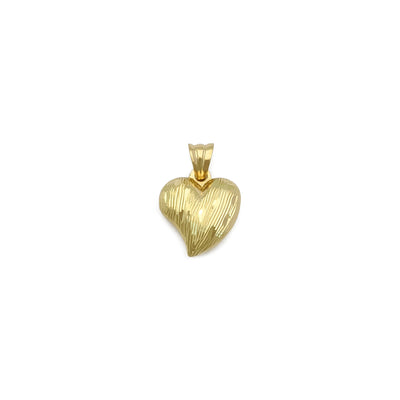 Speckled Curvy Heart Pendant (14K) front - Lucky Diamond - New York