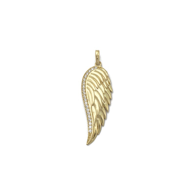 Angel Wing CZ Pendant (14K) front - Lucky Diamond - New York