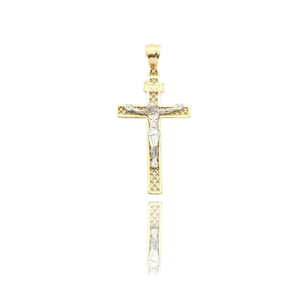 Jesus Crucified INRI Cross Pendant (14K)