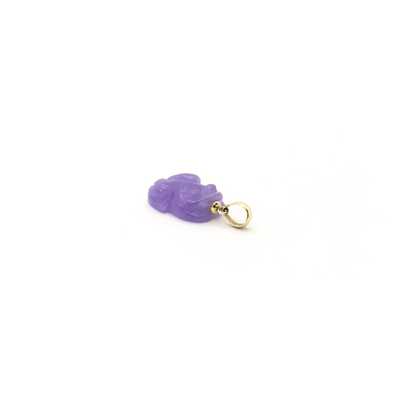 Purple Toad Jade Pendant (14K)