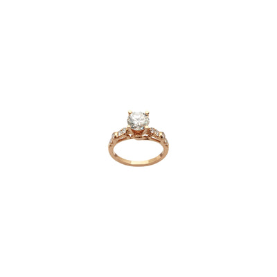 Round Diamond Engagement Accent Ring (18K) front - Lucky Diamond - New York