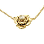 Diamond Rose Blossom Necklace (18K)