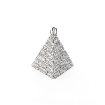 Partial Icy Pyramid Pendant (Silver) front - Lucky Diamond - New York