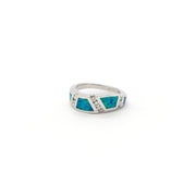 Opal Wavy CZ Ring (Silver) front - Lucky Diamond - New York