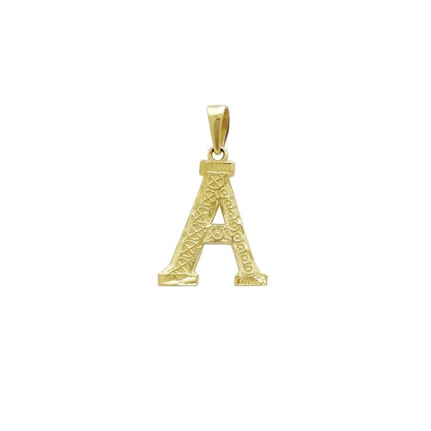 Initial Letters Pendant (14K) Lucky Diamond New York