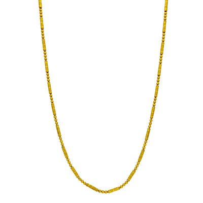 Ball & Barrel Diamond Cut Sand Blasted Chain (24K) Lucky Diamond New York