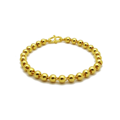 Ball Bracelet (24K) 24 Karat Gold Yellow Gold, Lucky Diamond New York