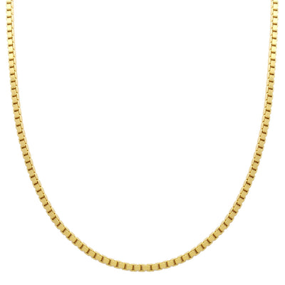 Box Chain (14K) 14 Karat Yellow Gold Lucky Diamond