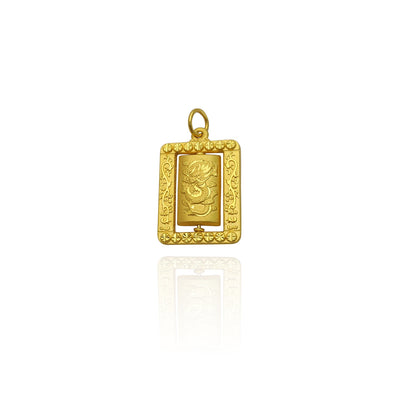 Diamond-Cut Lucky Dragon Pendant (24K) New York Lucky Diamond