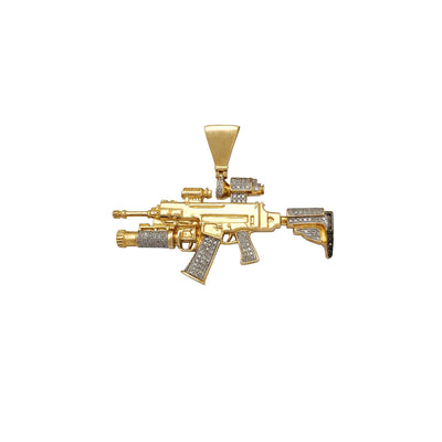 Diamond Assault Rifle-Scope Pendant (10K) Lucky Diamond New York
