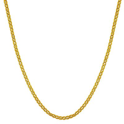 Diamond Cuts Semi-Mariner Chain (24K) Lucky Diamond New York