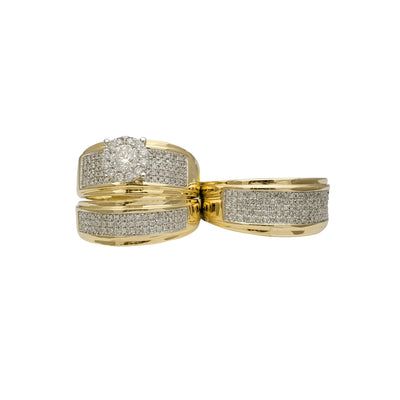 Diamond Two-Tone Three-Piece-Set Ring (14K) Lucky Diamond New York
