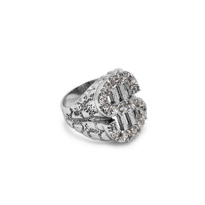 Dollar Sign Nugget Ring (Silver) Lucky Diamond New York
