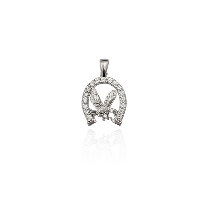 Eagle in Horseshoe Pendant (Silver) New York Lucky Diamond