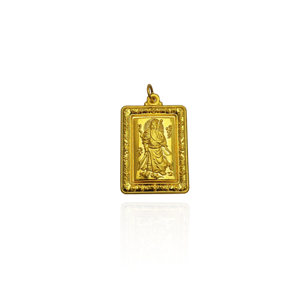 Chinese Feng Shui Wallpaper Medallion Pendant (24K)