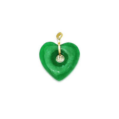 [福] Heart Jade Pendant  (14K) Lucky Diamond New York