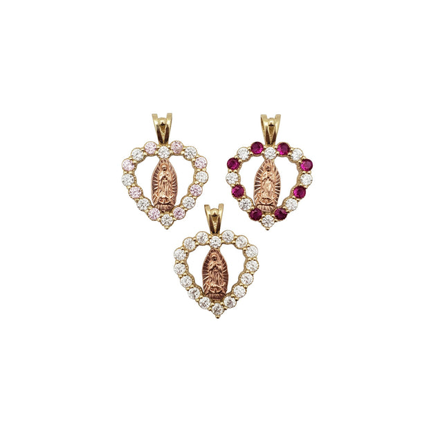 Heart Virgin Mary CZ Pendant (14K) New York Lucky Diamond