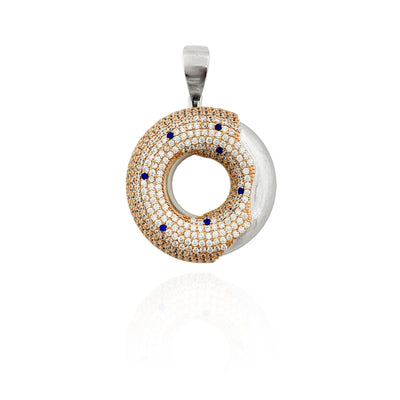 Donut CZ Pendant (Sterling Silver).