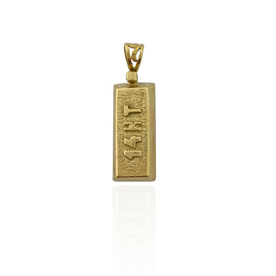 14 Karat Yellow Gold Bar Pendant (14K).