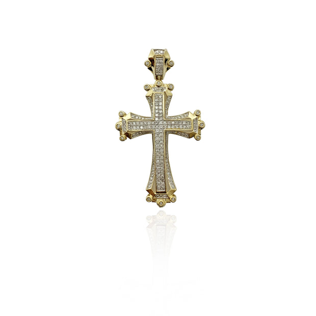 Diamond Mantle Cross Pendant (10K)