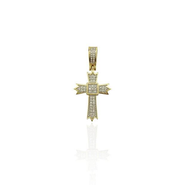 Diamond Cross Pendant (10K).