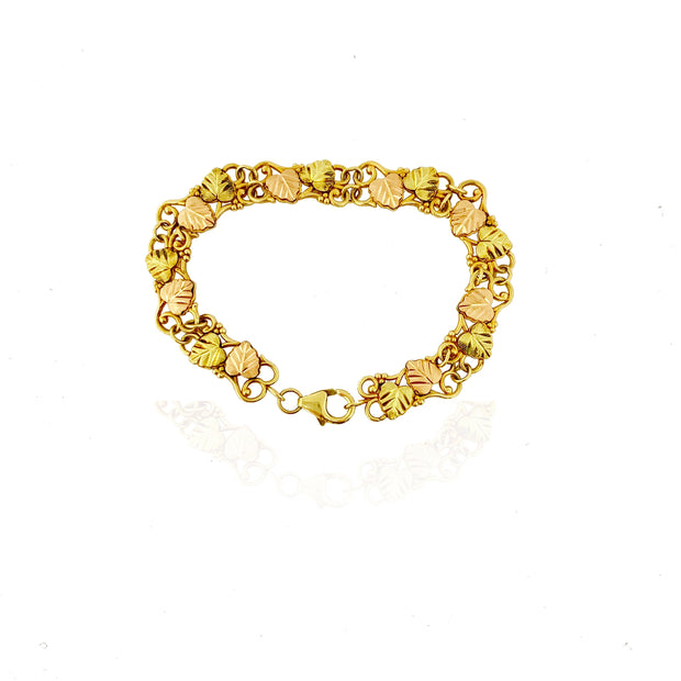 Two-Tone Autumn Leaves Bracelet (14K)