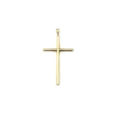 Hollow Tube Cross Pendant (14K)