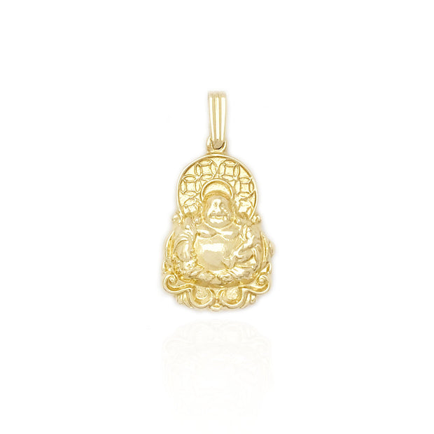 "Double-Sided Solid Buddha ""金佛"" Pendant (14K)"
