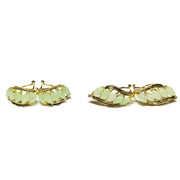 Five Marchise Jade Huggie Earrings (14K)